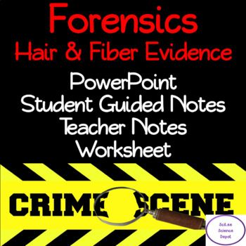 The Forensics: Hair and Fiber Evidence lesson includes a ...