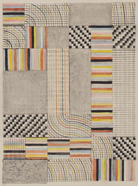 Bauhaus online archive from Harvard Art Museum! Anni Albers, Design for a Rug, 1927 Anni Albers, Josef Albers, Textile Patterns, Print Patterns, Bauhaus Textiles, Women Artist, Harvard Art Museum, Bauhaus Design, Abstract Art