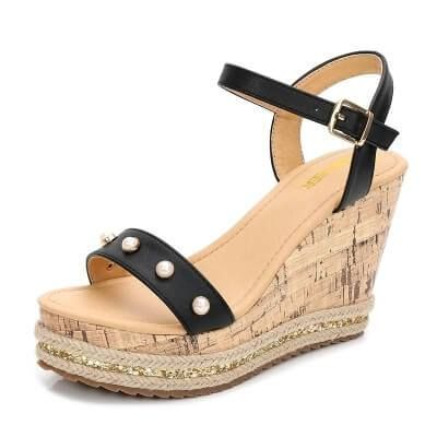 cb15c48180b Petite Wedges Sandals Cora in 2019 | petite size sandals | Wedge ...