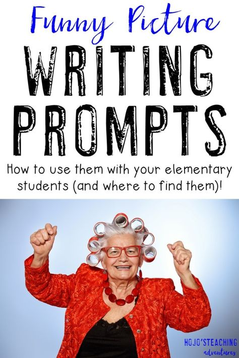 Funny Picture Writing Prompts can be a LOT of fun in your and grade classroom or homeschool! HUGE collection of funny picture prompts that you can use with your students at ANY time. So you find grading tips and more! Writing Prompts For Writers, Picture Writing Prompts, Narrative Writing, Writing Lessons, Teaching Writing, Kids Writing, 6th Grade Writing Prompts, Writing Ideas, 4th Grade Journal Prompts