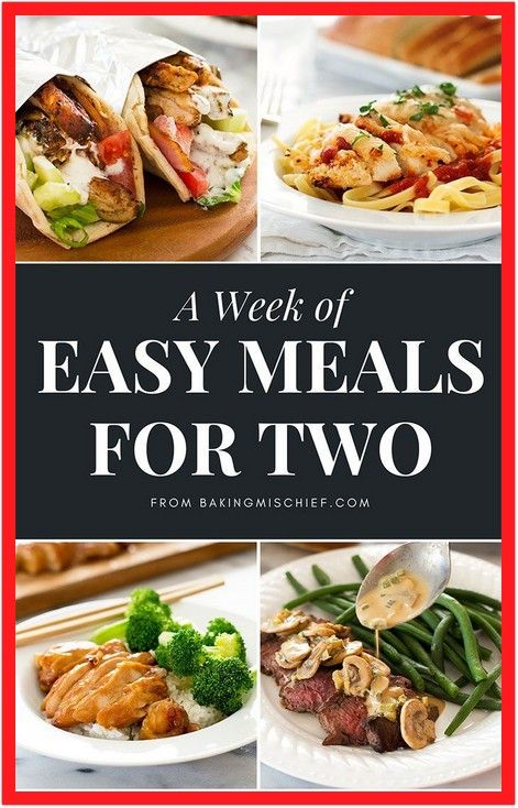 Health dinner recipes for two