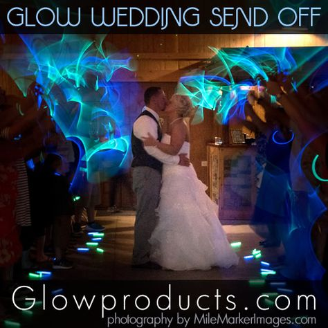 Glow Stick Send Off With Glowing Necklaces Wedding Glow Stick Wedding Wedding Send Off Glow Stick Party