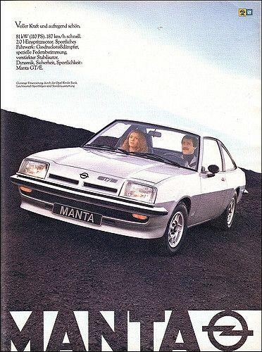 Opel Manta Gt E Magazine Ad Zeitschriftenanzeige Ams 1979 04