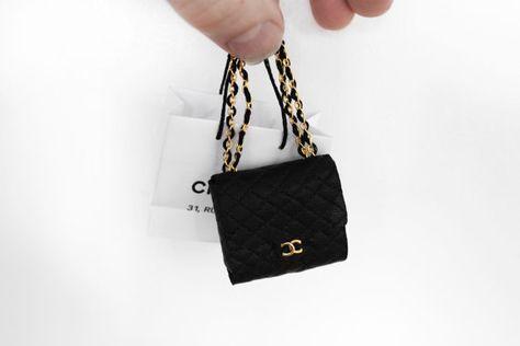 Miniature Quilted Coco handbag   Miniatures handbag   Pinterest ... 05a07da2e0f