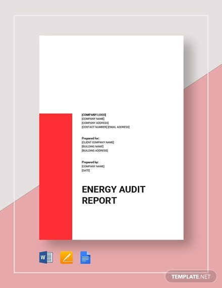 Energy Audit Report Template In 2020 Energy Audit Word Doc Audit