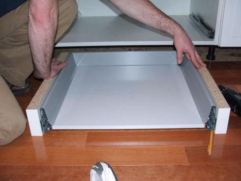 Creating Toe Kick Drawer For Ikea Cabinets In 2019