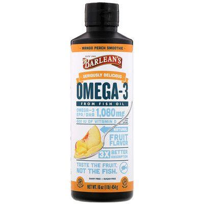 Barlean S Seriously Delicious Omega 3 Fish Oil Mango Peach Smoothie 16 Oz 454 G In 2021 Peach Smoothies Peach Mango Fish Oil