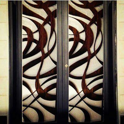 ابوسعيد 0533280299 الرياض ابواب حديد والمنيوم وخشب وسحاب ابواب حديد المنيوم خشب سحاب الرياض ابو سع Aluminium Doors Front Door Entrance Door Design
