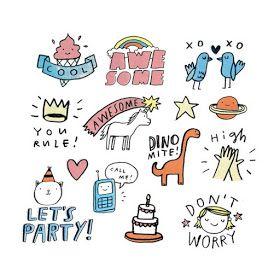 Littlebug 365 ภาพการ ต นลายเส นน าร กๆ Ideas วาดร ปลายเส น Sticker Art Sticker Design Cute Drawings