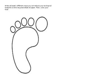 Ecological Footprint Activity Ecology Ecological Footprint Middle School Science