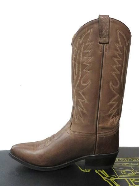 02fe59a874d0 Old West Mens Chocolate Narrow Round Toe Western Boots OW2034 ...