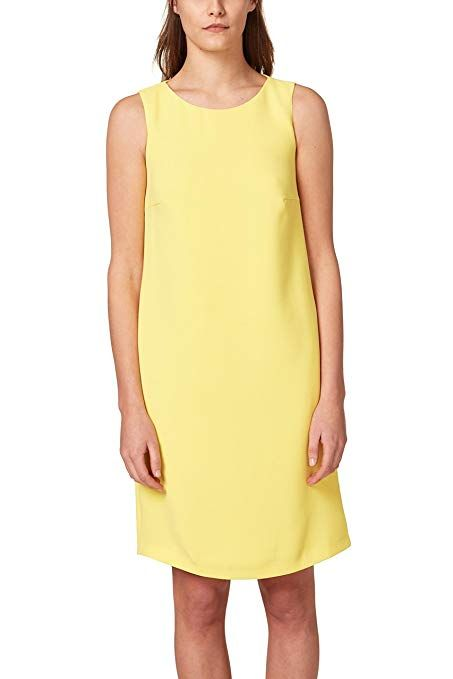 69046c703098 ESPRIT Collection Damen Kleid 048EO1E014, Gelb (Yellow 750), 44 ...