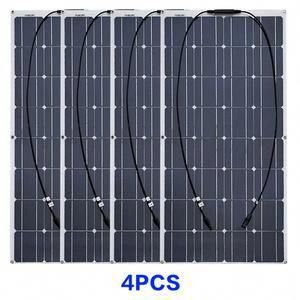 2pcs 4pcs 10pcs 100w Solar Panel Monocrystalline Solar Cell Flexible For Car Yacht Steamship 12v 24 Vol In 2020 Solar Panel Technology Solar Energy Panels Solar Panels