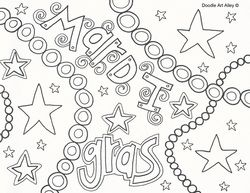 picture coloring pages pinterest mardi gras