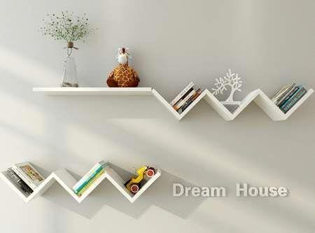 Hurrise Wall Book Shelf Fashionable Creative Floating Wall Shelf