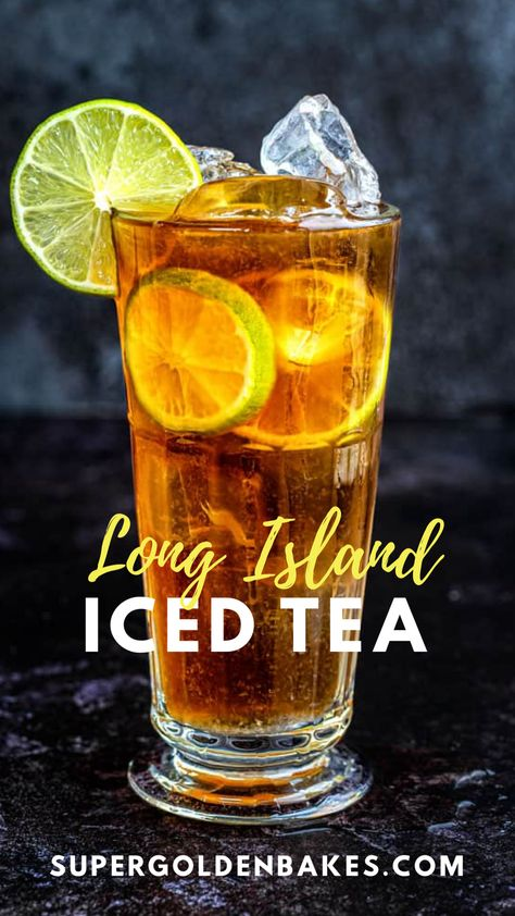The Long Island Iced Tea is THE ultimate refreshing summer cocktail. A heady cocktail made with tequila, rum, vodka, gin, triple sec and topped with a splash of cola. Learn how to make the classic Long Island drink plus a couple of fun variations. Iced Tea Vodka, Iced Tea Cocktails, Refreshing Cocktails, Summer Cocktails, Long Island Cocktail, Long Island Tea, Iced Tea Recipes, Alcohol Drink Recipes, Cocktail Recipes