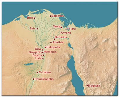 Heliopolis Ancient Egypt Map Of Lower Egypt Including Memphis - Map of egypt heliopolis