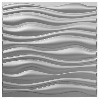 Advertisement Pvc 3d Wall Panels Silver Wave Art Design 19 7 X19 7 13tiles 35 Sf Waterproof In 2020 3d Wall Panels Pvc Wall Panels Textured Wall Panels
