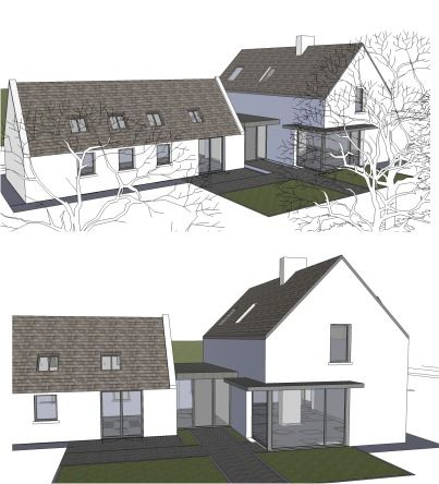 241 best Forms images on Pinterest Modern farmhouse, Modern homes - cout agrandissement maison 30m2