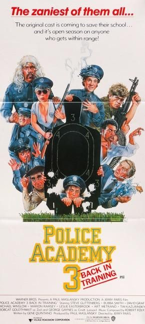 Police Academy 3 Back In Training 1986 In 2020 Police Academy Academy Movie Posters