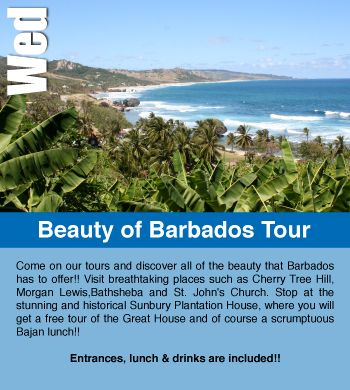 On Wednesdays Be A Part Of The Beauty Barbados Tour