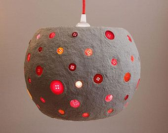 Paper Mache Pendant Light Recycled Paper Lampshade White Paper Pulp Light Hanging Lamp Eco Friendly Light 30 Cm 12 Inches Diameter In 2020 Paper Lampshade Recycled Paper Paper Mache