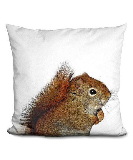 Lilipi Little Pitti Squirrel Throw Pillow Zulily Accent Throw Pillows Throw Pillows Baby Throw Pillows