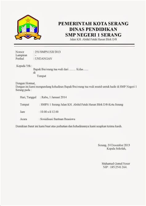 Contoh Surat Resmi Osis Sekolah Download Kumpulan Gambar