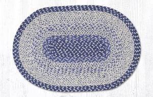 """Blue ANCHOR /& STARS Nautical 100/% Natural Braided Jute Rug 20/"""" x 30/"""" Earth Rugs"""