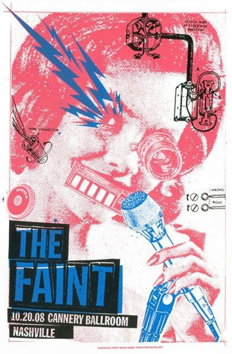 The Faint Screen Print Concert Poster