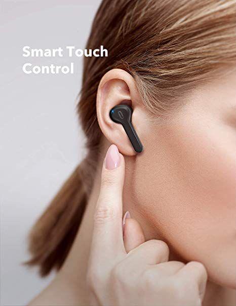Amazon Com True Wireless Earbuds Taotronics Bluetooth Headphones V5 0 Tws In Ear Earphones Tt Bh053 With Charging Case Wireless Earbuds Earbuds Touch Control