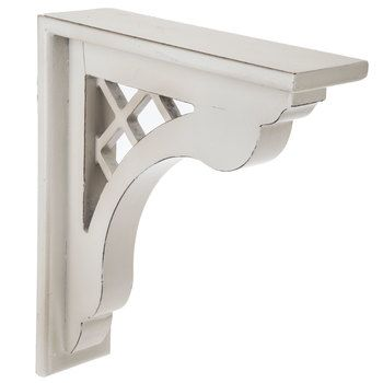 Antique White Lattice Wood Corbel Hobby Lobby 1489186 Wood Corbels Corbels Mirror Wall Decor