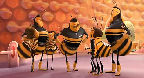 Re Creating The Human Gender Hierarchy In Bee Movie Sociological Images Bee Movie Boss Pet Male Bee