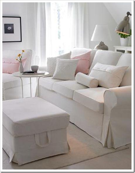 white slipcovered sectional our family room sofa room rh pinterest com