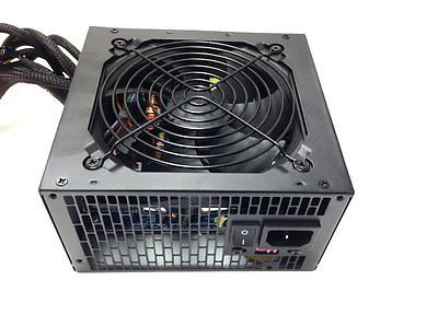 NEW 600W 650W 650 Watt 700W Large Fan BLUE ATX Power Supply PSU 450W 500W 550W