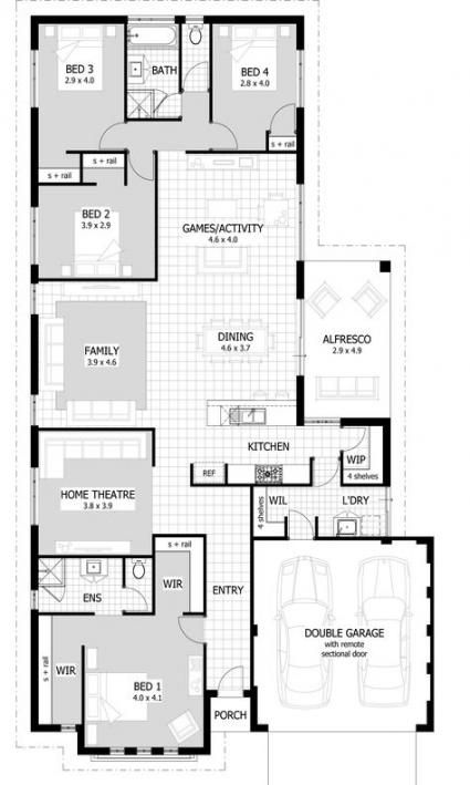 House Plans Layout Stairs 26 Super Ideas Home Design Floor Plans House Plans House Design