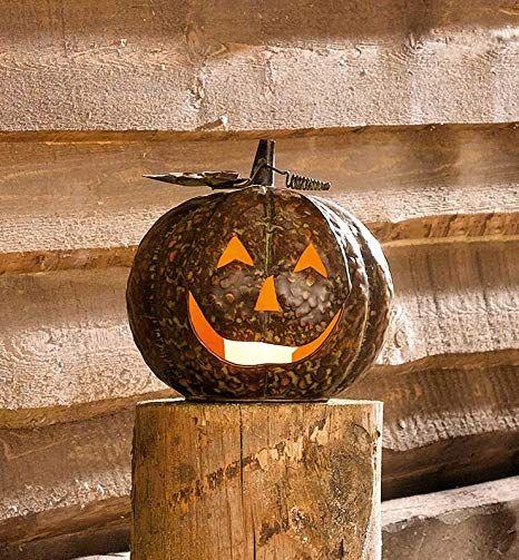 Amazon De Sidco Grosser Metall Kurbis Herbst Deko Halloween Windlicht Kupfer Teelicht Halter Herbstdeko Eingangsbereich Tisch Basteln Herbstdeko Windlicht Und Teelichter
