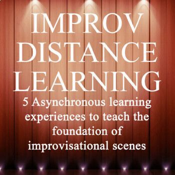 Improv Distance Learning: The Foundations of Improv Unit Drama Teacher, Drama Class, Drama Drama, Drama School, Drama Activities, Drama Games, Drama Education, Health Education, Physical Education