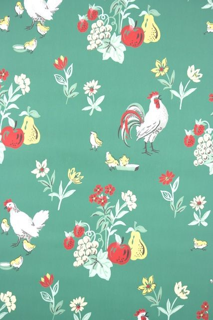 1950s Kitchen Vintage Wallpaper Kitchen Wallpaper Vintage