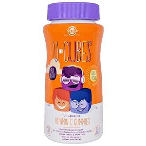 Solgar U Cubes Children S Vitamin C Gummies Orange Strawberry 90 Gummies Childrens Vitamins Vitamin C Gummies Vitamins