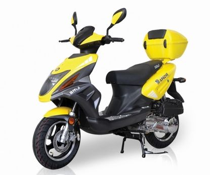 """BMS Tuscan 50cc Deluxe Scooter with 12"""" Wheels & CVT Automatic Transmission - Motobuys.com"""