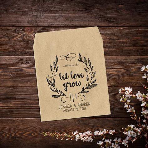 Wedding Favor, Seed Packet Envelope, Seed Favor, #seedpackets #seedfavors #weddingfavors #weddingseedfavor #letlovegrow #weddingseedpackets #wildflowers #rusticwedding #bohowedding #customseedpackets #seedpacketfavor #kraftseedpackets #seedpacketenvelope