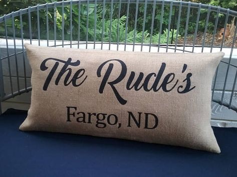 Custom Personalized Pillow Family Name