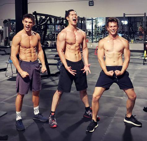 Timothy Granaderos, Ross Butler and Brandon Flynn
