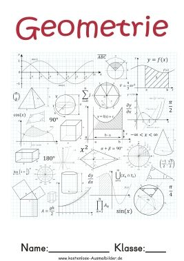 Deckblatt Deckblatt Geometrie Deckblatt Schule Mathe