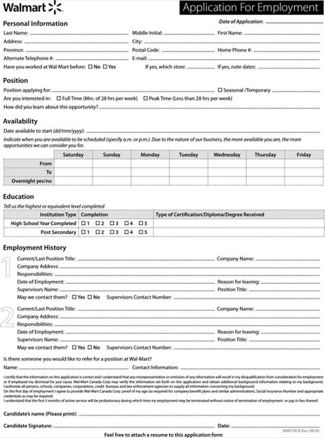 Dollar General Application Print Out – Dollar Tree Application Form