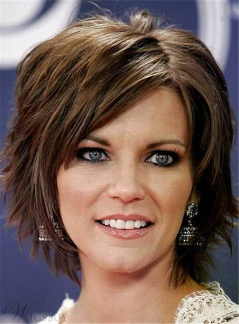 Short Layered Straight Messy Synthetic Hair Capless Women Wig