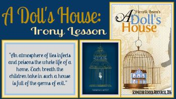A Doll S House Irony Lesson Examples Of Dramatic Irony