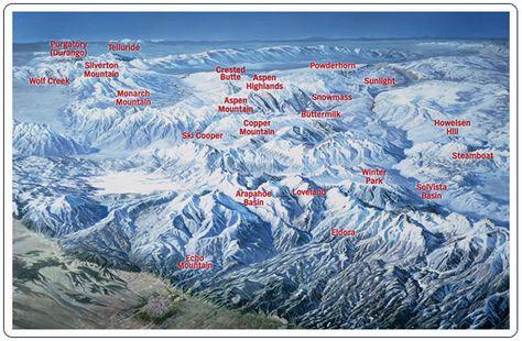 ski in colorado map Colorado Ski Mountain Map Re Connect Anew Navigate