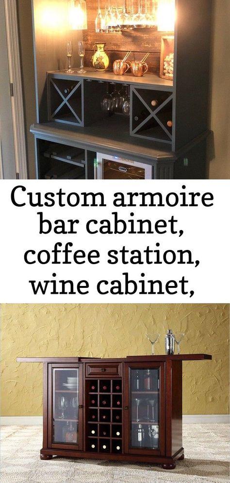 Armoire De Bar Sur Mesure Station De Cafe Cave A Vin Bar